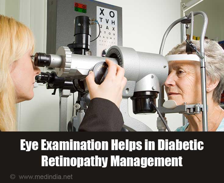 Eye Examination Helps in Diabetic Retinopathy Management