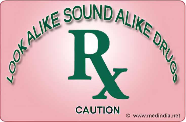 Sound Alike / Look Alike (SALA or LASA) Drugs