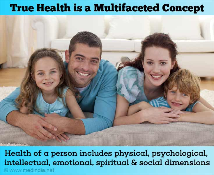 True Health is a Multifaceted Concept